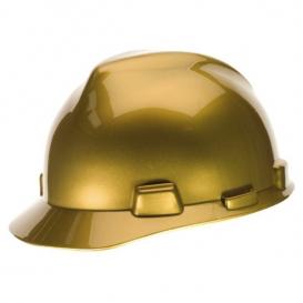 casco de seguridad dorado