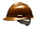 casco de seguridad marron