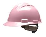 casco de seguridad rosa