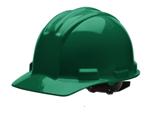 casco de seguridad verde